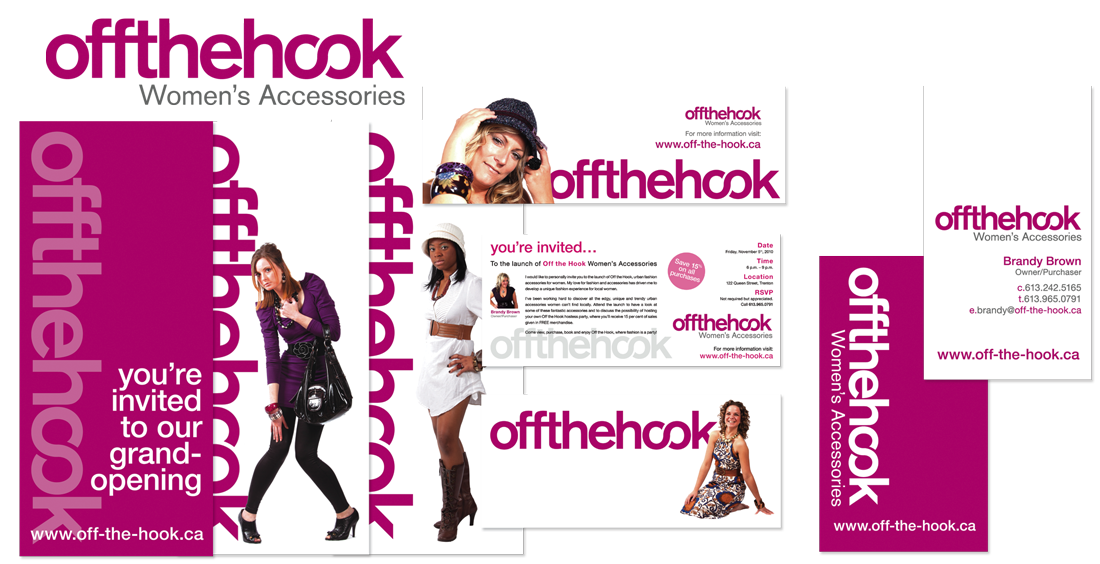 Off the Hook Women's Accessories - Branding & Collateral